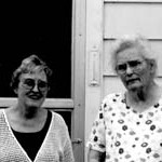 Mary Richard and Zelda Young, July 2003
